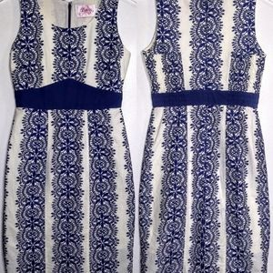 Ruby Belle | Blue and White Print Dress Sz 0